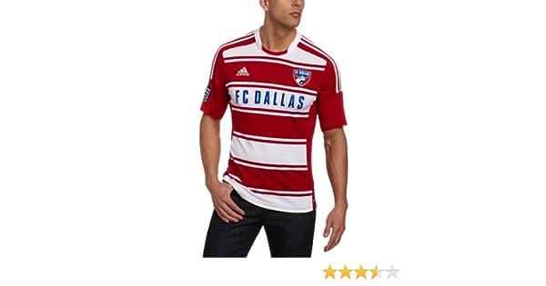 d7ff944f53f Amazon.com   adidas FC Dallas Red Replica Home Jersey   Sports Fan T Shirts    Clothing