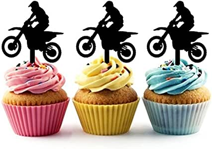 EXTREME BMX Bicycle Dirt Bike Edible Cake Topper Image Frosting Sheet Bike Race