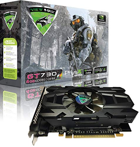 (ViewMax GeForce GT 730 4GB GDDR3 128 Bit PCI Express (PCIe) DVI Video Card HDMI & HDCP Support - Product Code Name : American Warrior Edition)
