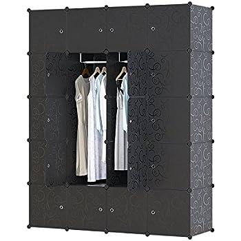 UNICOO Multi Use DIY Plastic 20 Cube Organizer, Bookcase, Storage Cabinet, Wardrobe  Closet