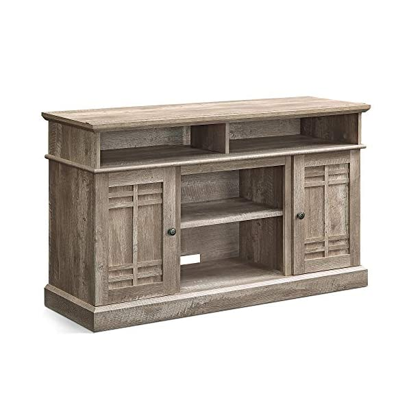 """BELLEZE 48 Inch Wood Television Stand for TVs Up to 50"""" Console with Media Shelves, Ashland Pine"""