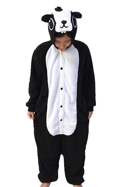 wotogold Animal traje de cosplay Mofeta Onesies Hombre Mujer Unisex Piyama adultos Pijamas Black
