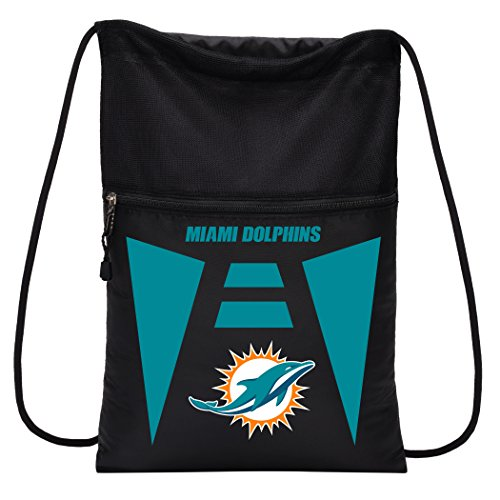 Officially Licensed NFL Miami Dolphins Team Tech Backpack Backsack, One ()