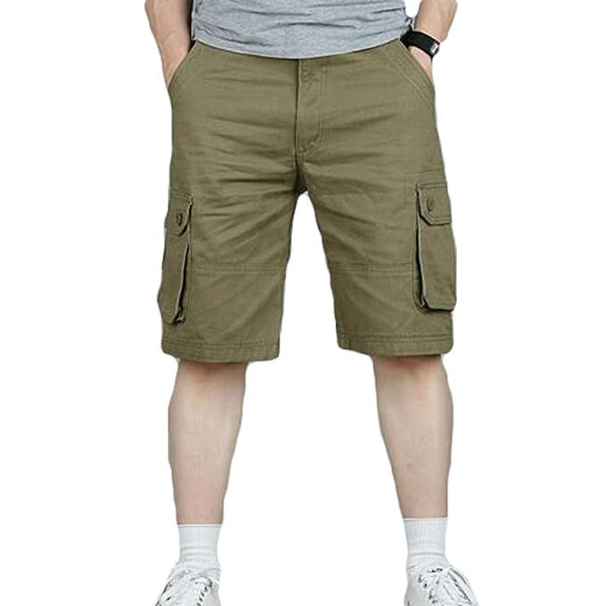 Yying Hombres Cargo Style Shorts Workwear Casual Bolsillos Laterales Bolsillos Traseros Pantalones: Amazon.es: Ropa y accesorios