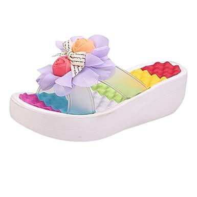 09b67cd9c86b Amazon.com  Moonker Women 2019 Summer New Sandals