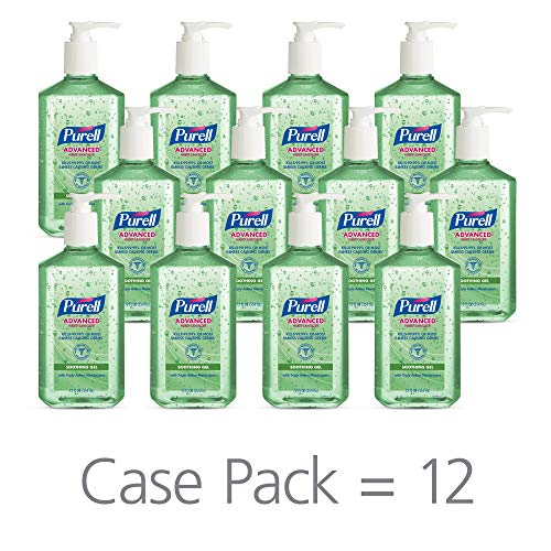 - PURELL Advanced Hand Sanitizer Soothing Gel for the workplace, Fresh scent, with Aloe and Vitamin E - 12 fl oz pump bottle (Pack of 12) - 3639-12