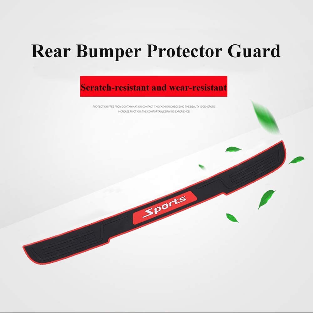 Universal Black Rubber Scratch Wear Resistant for Supplies Protection Stickers Anti-Collision Strip for SUV//Cars,90 cm//35.4 inches XCBYT Rear Bumper Protector Guard