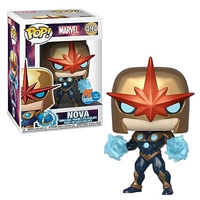 Marvel: Nova Prime (PX Previews Exclusive) Funko Pop! Vinyl Figure (Includes Compatible Pop Box Protector Case): Toys & Games