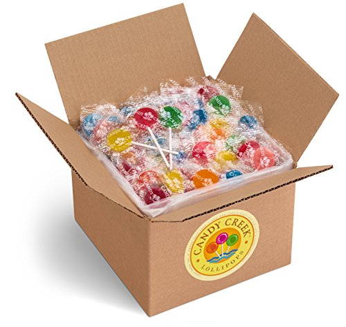 Candy Creek Fruit Lollipops, 5 Pound Carton, Bulk Candy, Assorted Flavors (Old Fashioned Lollipops)