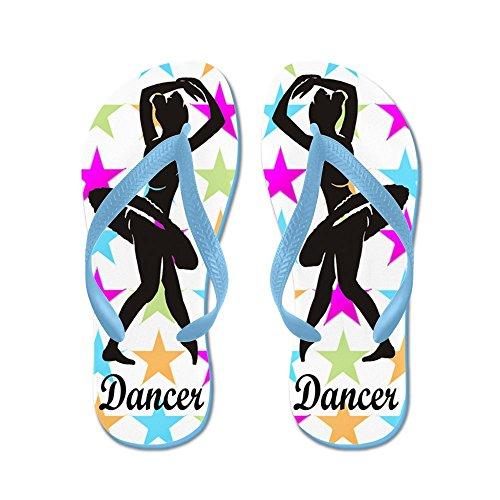Cafepress Dansa Queen - Flip Flops, Roliga Rem Sandaler, Strand Sandaler Caribbean Blue