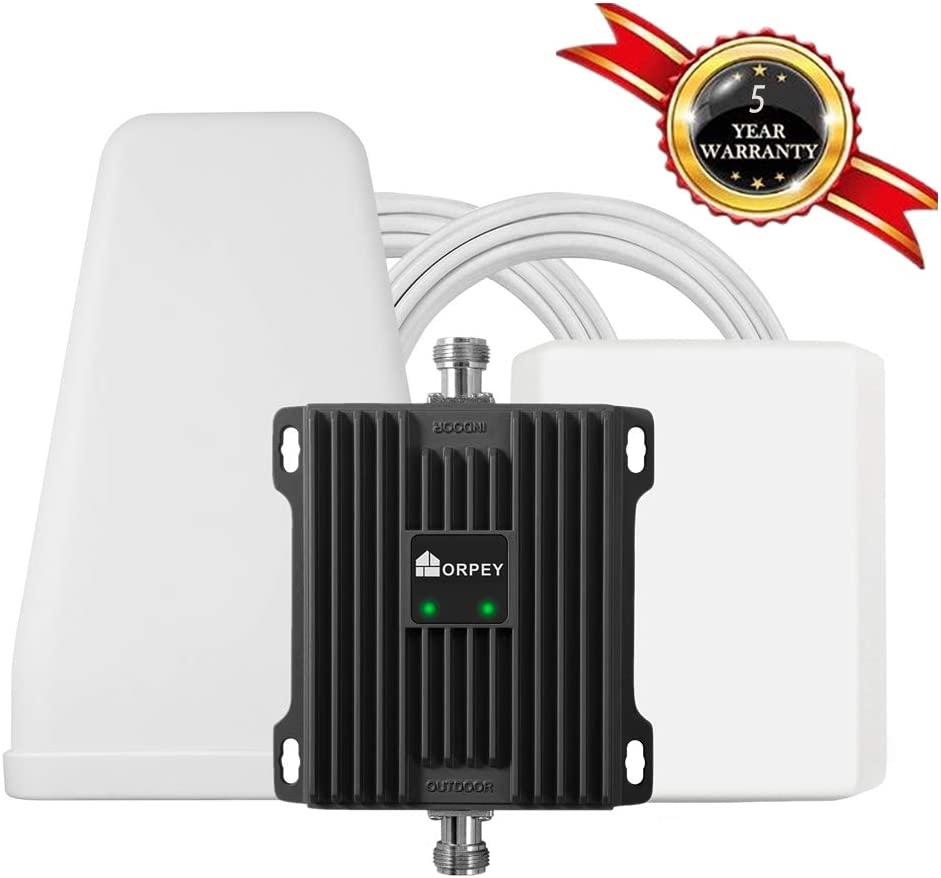ORPEY Cell Phone Booster for Home and Office - Works with AT&T, Verizon and T-Mobile 700 MHz Band 12/13/17 - Improve 4G LTE Data Signal and Voice Over LTE