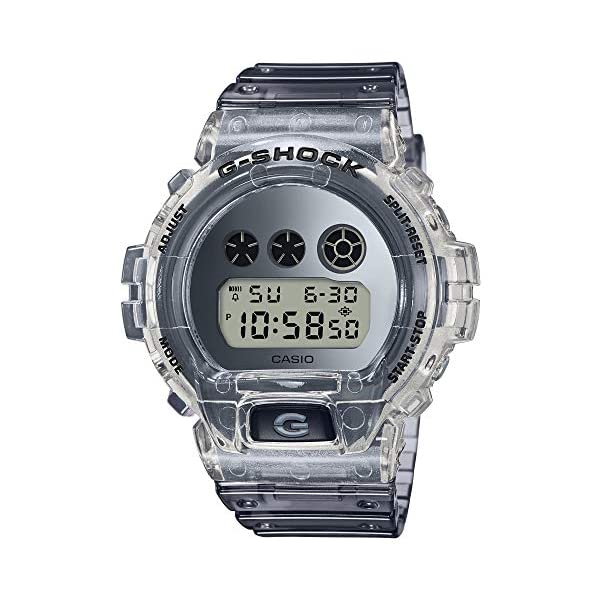 51N6krmu9qL. SS600  - Casio G-SHOCK DW-6900SK-1JF Clear Skeleton Special Color Shock Resistant Watch (Japan Domestic Genuine Products)