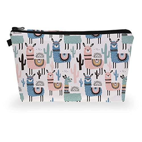 (EGALIVE Cartoon Animal Alpaca Llama Series Makeup Storage Bag Cosmetic Keys Pencil Case Toiletry Travel Storage Organizer 2213.52 cm)