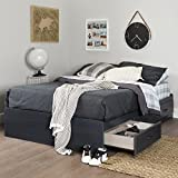 South Shore Ulysses 54'' Mates Bed with 3 Drawers, Full, Blueberry