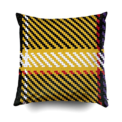 Pamime Zip Pillow Case, Square Throw Lumberjack Pattern Trendy Hipster Style Background Tartan Buffalo Check Plaid Pillow Case Cover Decorative Cushion for Home 20X20Inches Art Pillowcase