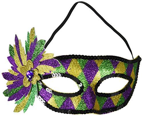 Amscan 360265 Costume Mardi Gras Glitter Mask 5 1/2