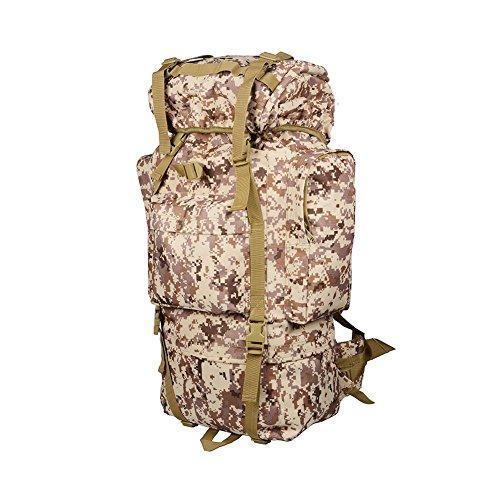 Bolso de montaña al aire libre Mochila táctica 65L Mochila de viaje de gran capacidad , jungle digital desert digital