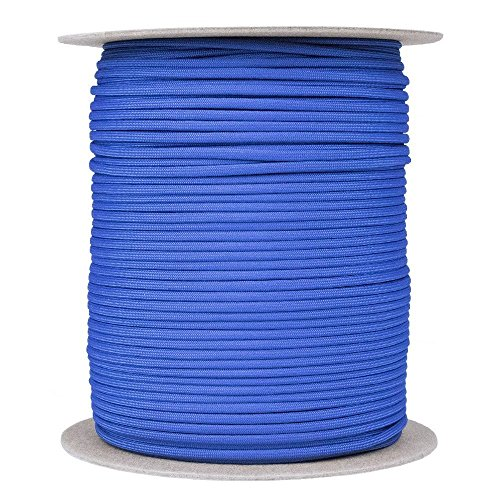 Paracord 550 Type III - SGT KNOTS - 7 Strand - 100% Nylon Core and Shell 550 lb Tensile Strength Utility Parachute Cord for Crafting, Tie-downs, Camping, & Handle Wraps (4mm - 200 ft - Royal Blue) - Parachute Cord Wrap