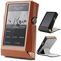 Astell & Kern AK380 Hand Crafted MITER Leather Case Cover [Patented Stand Case] astell&kern leather case (Brown)