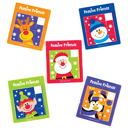 Penguin Reindeer or Snowman Henbrandt 3 x Christmas Mini Slide Puzzle