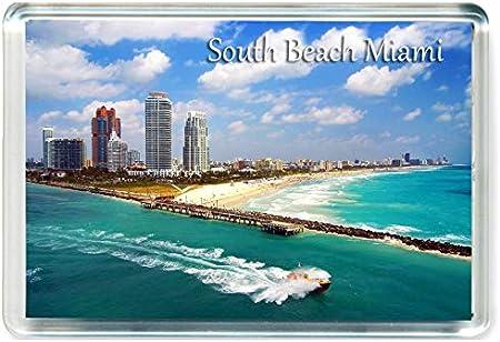American Travel Fridge Magnet USA GCT J409 South Beach Miami Jumbo Aimant pour Le Frigo US /États-Unis