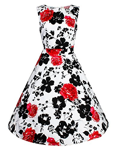 Costyleen Womens Vintage Floral Sleeveless