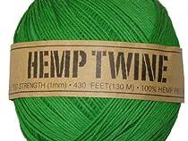 Hemp Twine Green 20# 1mm 430Ft 130m