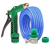 ZLJTYN Wash Car Water Gun Full Set Household Portable High Pressure Scour Vehicle Multifunctional Powerful Water Flower Hose Connector Fittings,5 Meters