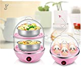 Askyl Double Layer Large Capacity Multifunction Egg Boilers Steamed Egg Custard Cooking Electric Egg Cooker Boiler Corn Steamer
