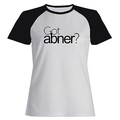 Idakoos Got Abner? - Nomi Maschili - Maglietta Raglan Donna