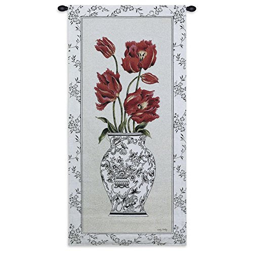 Fine Art Tapestries - pretty floral wall tulips