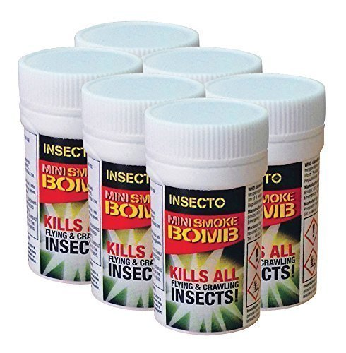 6 x Flea Bomb Foggers - Pet Dog Cat Fleas Smoke Bomb Flea House Room Fumers