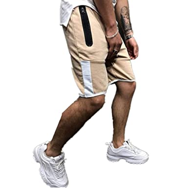 Yying Hombre Pantalones Cortos Deportivos - Moda Cintura Elástica ...