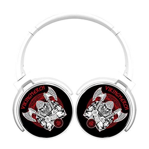 (MagicQ Runner-up Viking Bluetooth Headphones,Hi-Fi Stereo Earphones White)