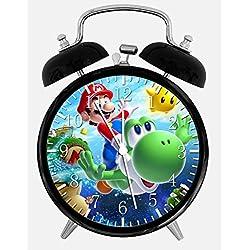 Super Mario Yoshi Alarm Desk Clock 3.75 Home or Office Decor W69 Nice For Gift