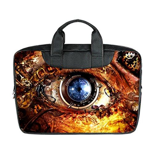 JIUDUIDODO Custom Father's Day Best Gifts Cool Steampunk Nylon Waterproof Bag Computer Bag Handbag for Laptop 17' (Twin sides)