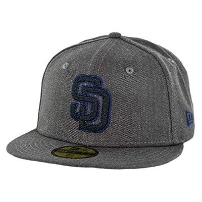 "New Era 5950 San Diego Padres Heather Crisp 3"" Fitted Hat (HGP) Men's Cap"