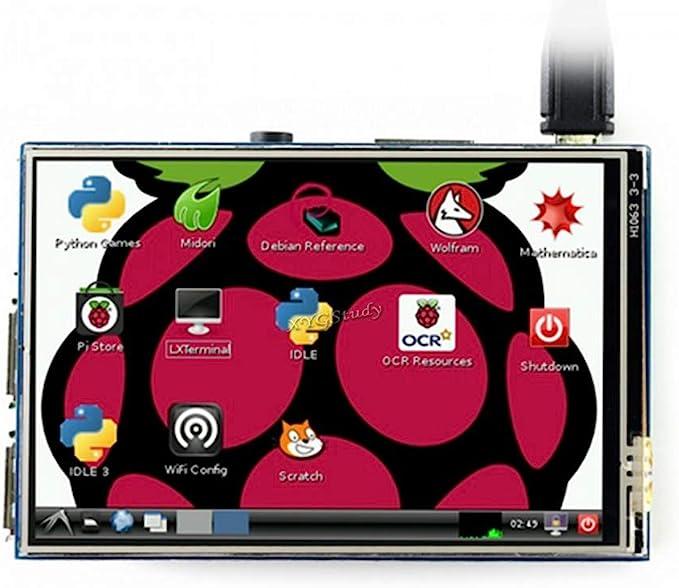 "3.5/"" 320*480 TFT Touch Screen LCD Display Case For/'Raspberry Pi A B A 2B 3B ~zP"