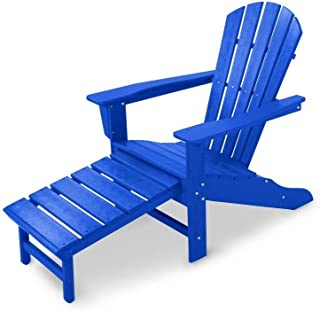 product image for Polywood HNA15PB Palm Coast Adirondack Chair, Pacific Blue