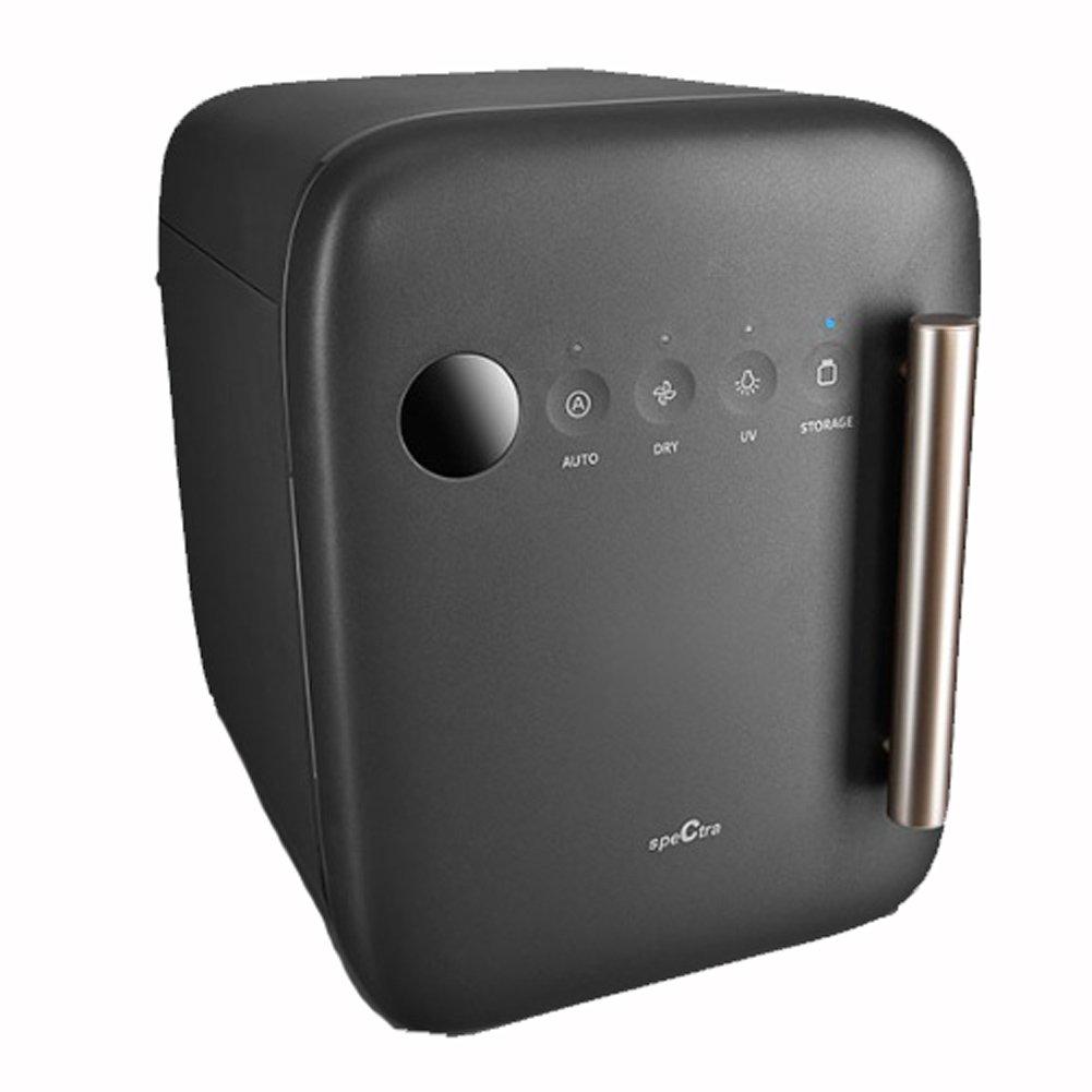 Spectra-OEM Touch Panel Baby Bottle UV Sterilizer & Dryer Bowl Towel Disinfection UV Sterilizer Multi Use Sterilization Cabinet Triple fan System microfiber prefilter 220V (Black)