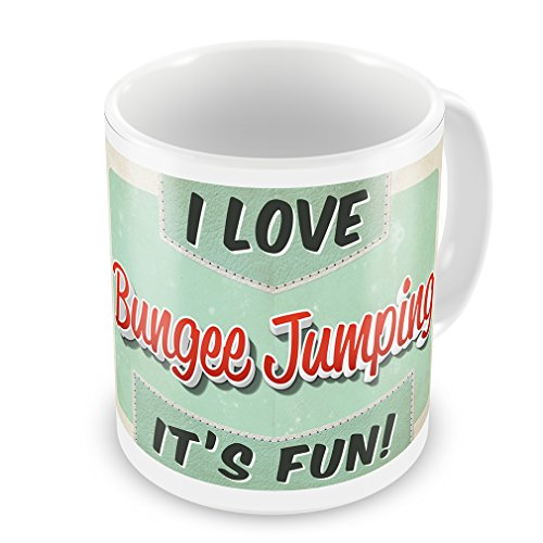 Coffee Mug I Love Bungee Jumping, Vintage design - Neonblond