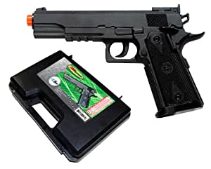 TSD Sports SDGP304BH CO2 Gas Powered Non-Blowback Airsoft Pistol with Case (Black