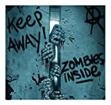Keep Away-Turn Back-ZOMBIE INSIDE-DOOR COVER-Walking Dead Horror Prop Decoration BEST SELLER in Halloween Props