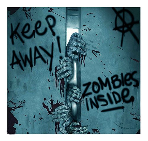 Keep Away-Turn Back-ZOMBIE INSIDE-DOOR COVER-Walking Dead Horror Prop Decoration BEST SELLER in Halloween (Best Door Decorations For Halloween)
