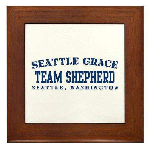Shepherd Framed Tile (CafePress - Team Shepherd - Seattle Grace - Framed Tile, Decorative Tile Wall Hanging)