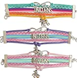 Unicorn Bracelet for Girls | Unicorn Stuff | Girls Unicorn Items | Unicorn Accessories for Teen and Women | Cute Wristband Love Gifts