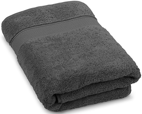 Maura Premium Quality Turkish Bath Towels. Super Soft, Plush and Highly Absorbent. Luxury 100% Ringspun Cotton 30x56 inches Large Bath Towels for Bathroom, Gym, and Pool.by (Space Gray)