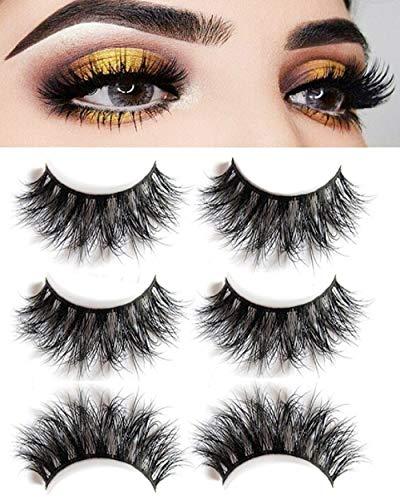 54519a8e8db 3D Mink False Eyelashes-Dramatic Makeup Strip Eyelashes 100% Siberian Fur  Fake Eyelashes Hand