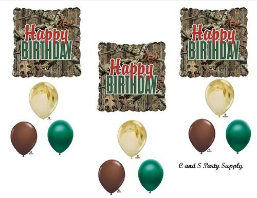 MOSSY OAK Camouflage Happy Birthday Party Balloons Favors Decorations Supplies