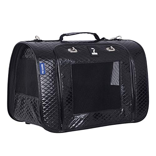 Petper Pet Carrier Designed for Cats, Small Dogs, Kittens, Puppies Pet Travel Carrying Handbag for Outdoor Travel…